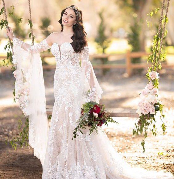 فساتين زفاف ابيض