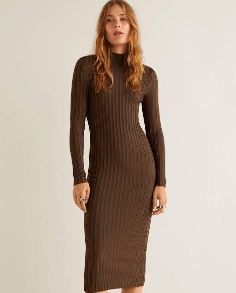 تصميم فستان شتوي طويل