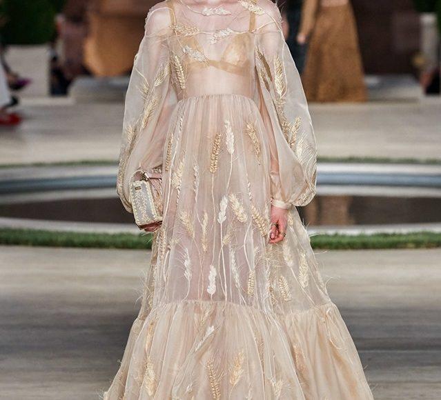 فستان سهرة بكم شيفون يلائم الخطوبة