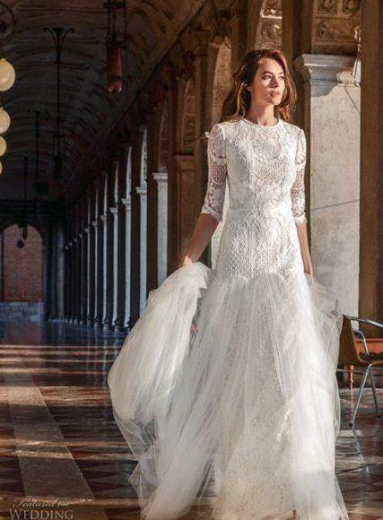 فستان زفاف مودرن