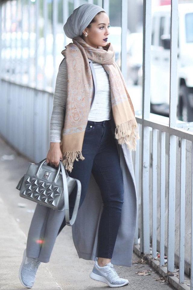 كيفية ارتداء ملابس الشتاء للمحجبات