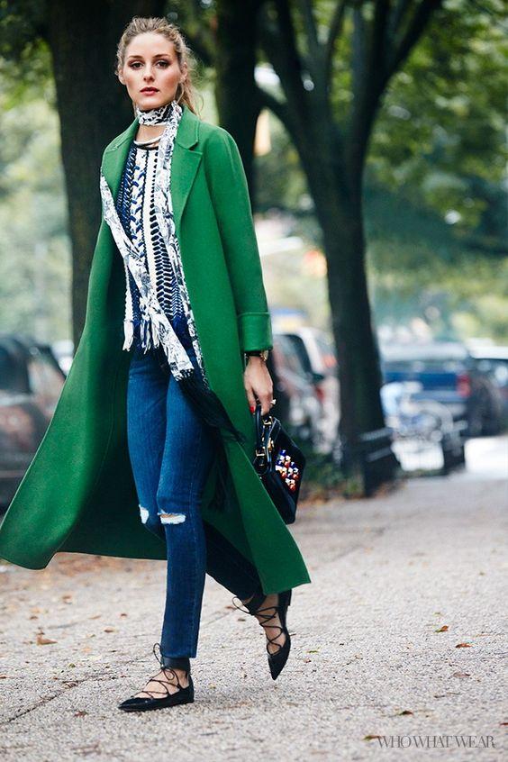 بالطو اخضر لملابس الشتاء 2020