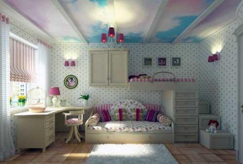 صور أشكال ديكورات جبس بورد للسقف في غرف الأطفال