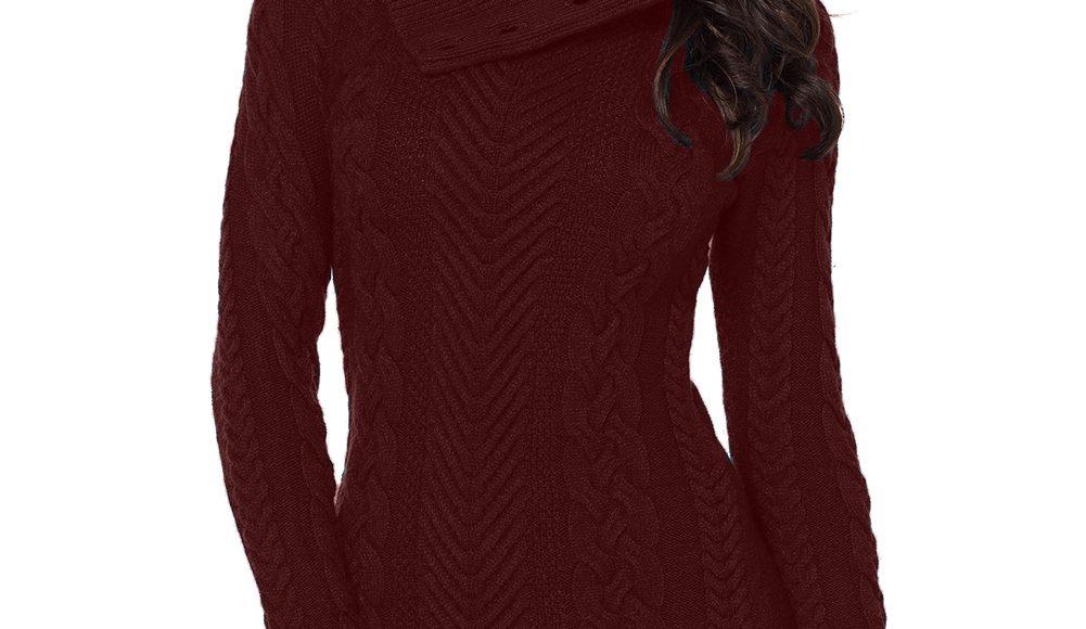 صورة تصميم فستان شتوي قصير باللون النبيتي