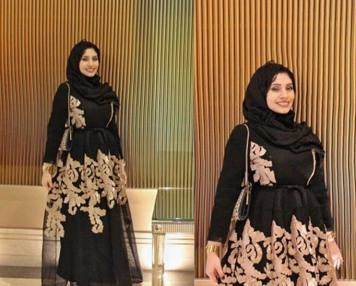 رضوى جلال بفستان سهرة باللون الأسود للمحجبات الحوامل