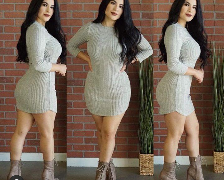 صورة تصميم فستان شتوي قصير باللون الرمادي