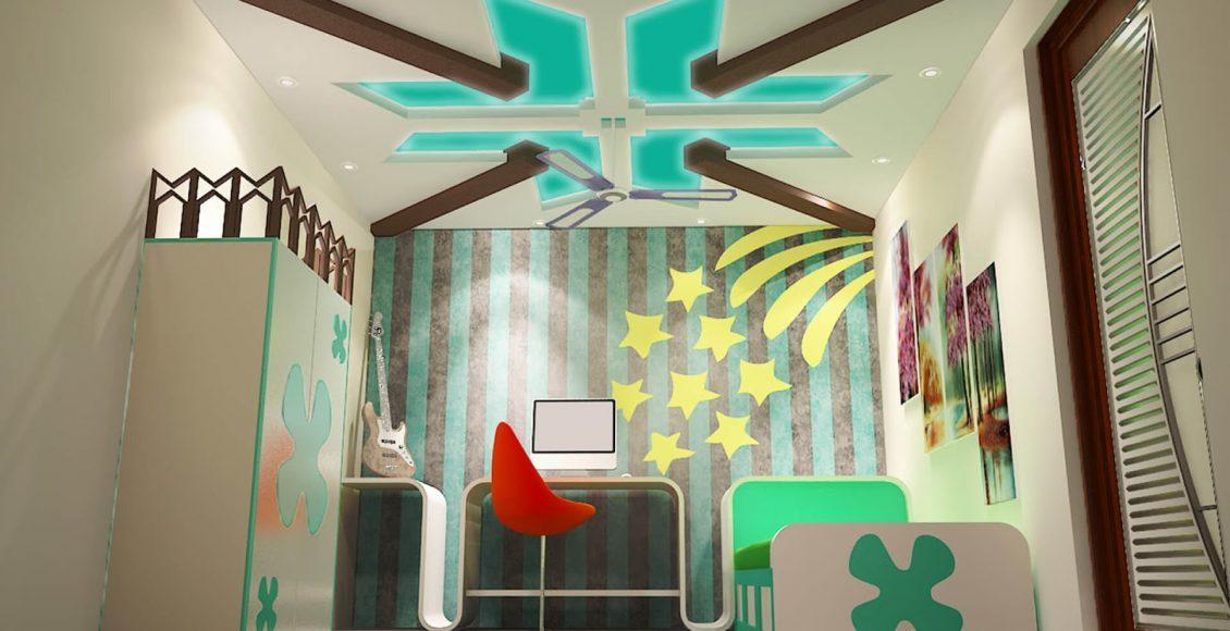 أشكال ديكورات جبس بورد للسقف في غرف الأطفال