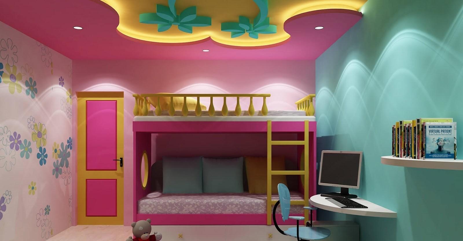 ديكورات اسقف جبس بسيطة لغرف الاطفال الراقية