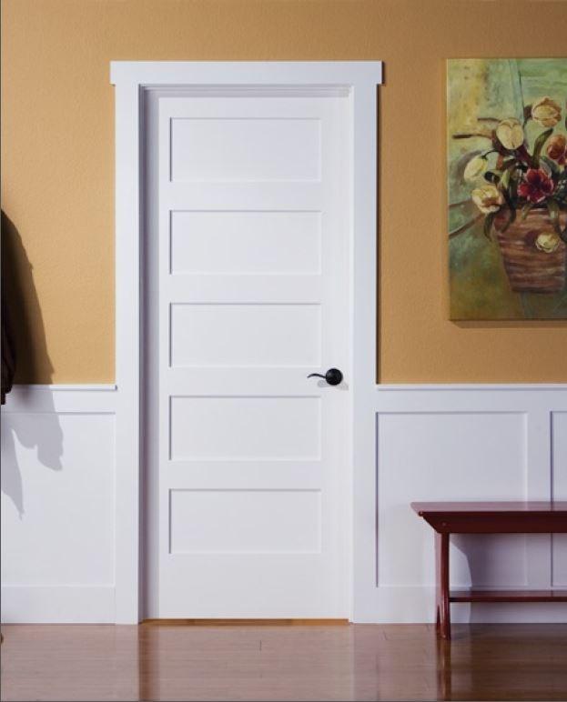 أبواب الخشب البيضاء لغرف نوم الأطفال