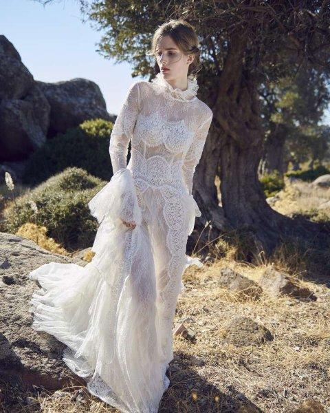 أرقى تصاميم فساتين الزفاف ذات القبة العالية موضة 2020