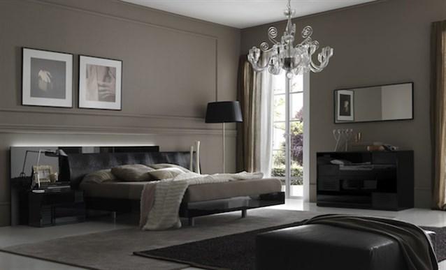 اجمل ديكورات غرف النوم من اللونين الرصاصي والأسود 2020