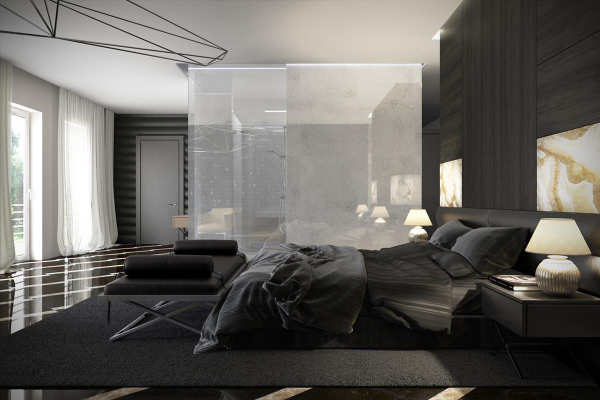 افخم ديكورات غرف النوم من اللون الأسود ورصاصي 2020