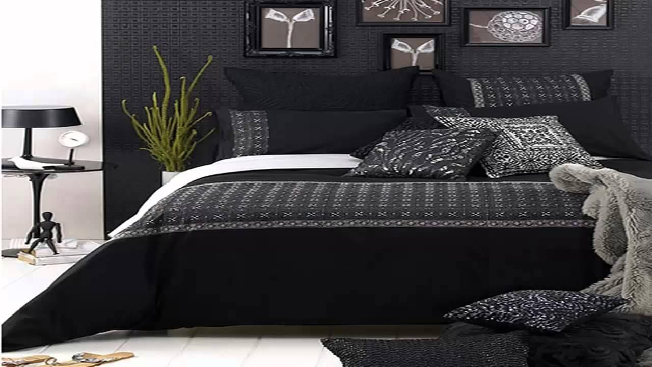 اللونان الأسود والرمادي يُزينا ديكورات غرف النوم المودرن