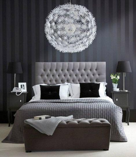 تصاميم غرف نوم مودرن من اللون الرصاصي
