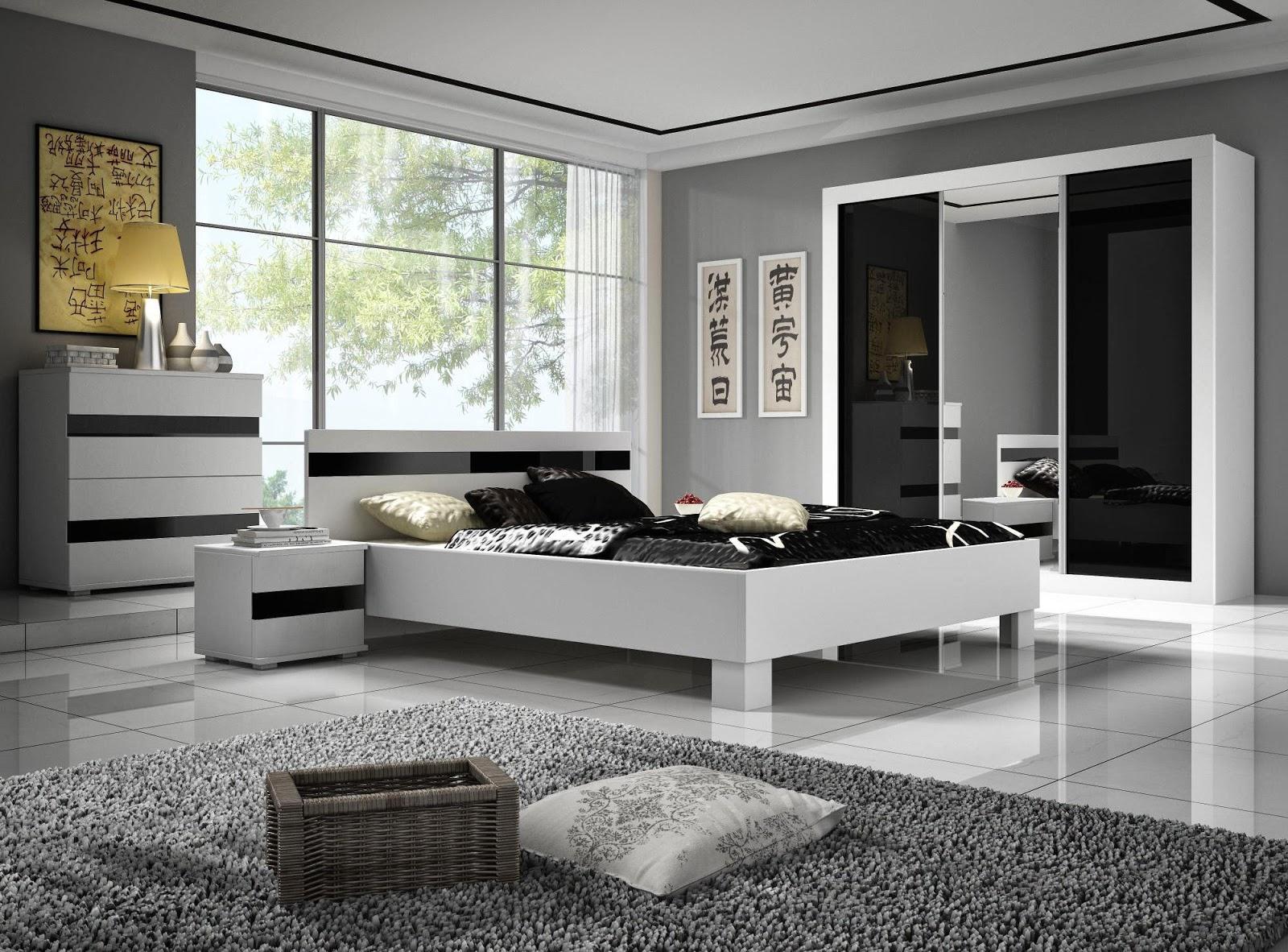 تصميمات غرف نوم مميزة من اللونين الرمادي والأسود 2020