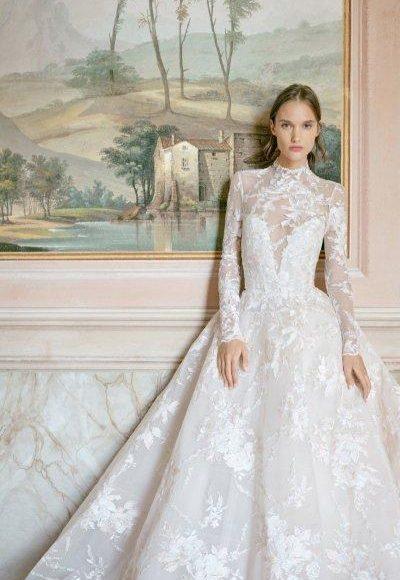 تصميم فخم لفستان زفاف ذو قبة عالية موضة 2020