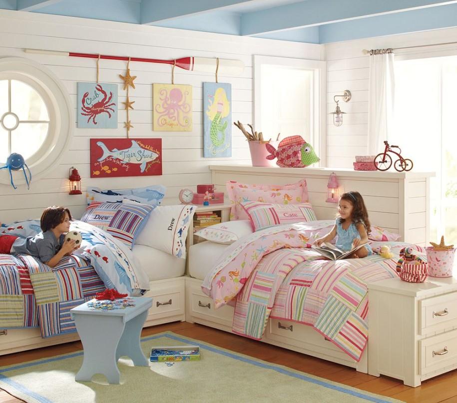 تصميم مميز لغرف نوم أطفال مشتركة