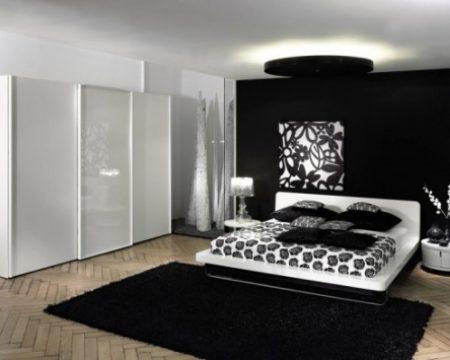 ديكورات غرف نوم مميزة من اللون الأسود والرصاصي
