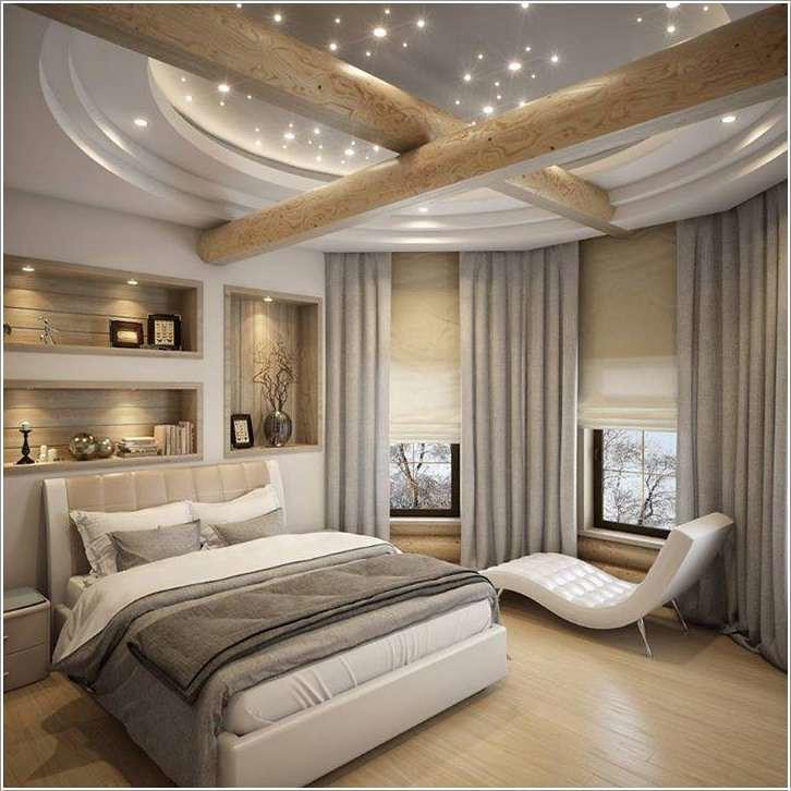 أرقى ديكورات غرف النوم الجبس بورد