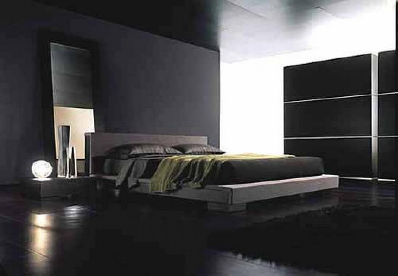 صور غرف نوم مودرن من اللون الأسود و رصاصي 2020