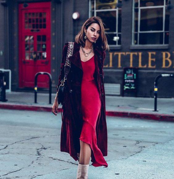 فستان احمر سهره