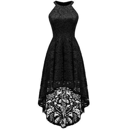 فستان اسود طويل من الخلف