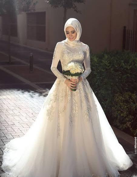 فساتين زفاف تركية تلائم المحجبات