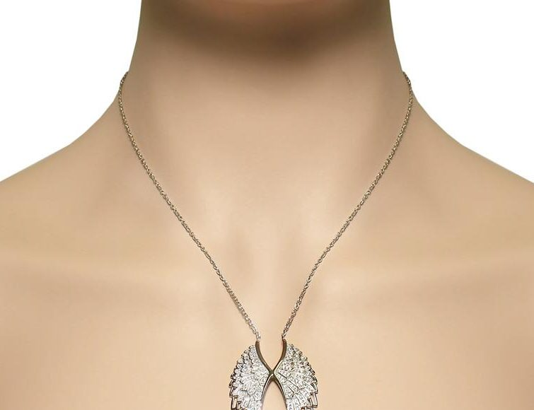 صور ونماذج مجوهرات للعرائس على شكل أجنحة