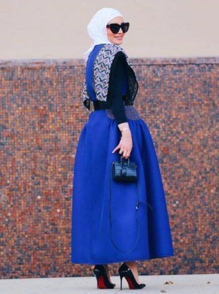 أساليب وطرق لتنسيق التنورة المنفوشة مع الحجاب لإطلالة عصرية وجذابة