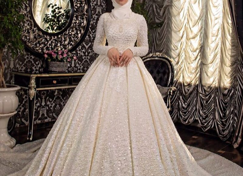 تصميم فستان زفاف تركي للمحجبات