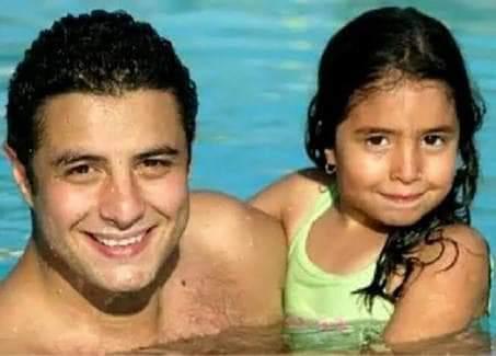 لينا الفيشاوي مع والدها