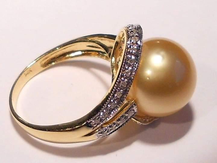 خواتم ذهبية مرصعة باللؤلؤ يمكنك اعتمادها كخاتم الخطوبة