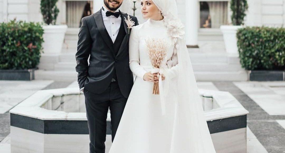 صورة تصميم فستان زفاف تركي للمحجبات