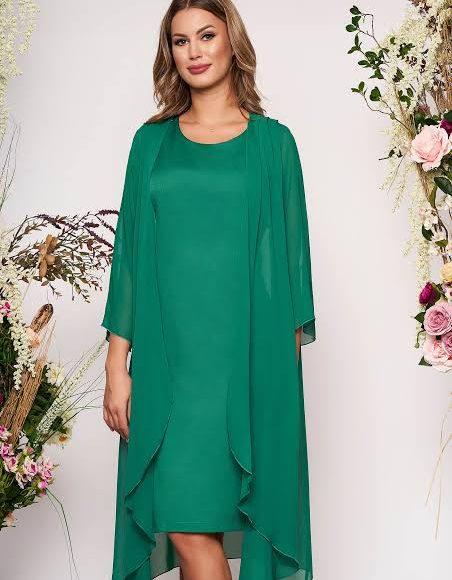 فستان ميدي باللون الأخضر