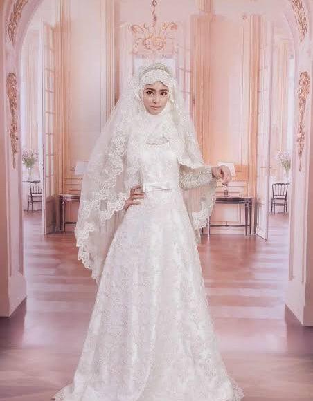 فستان زفاف تركي للمحجبات