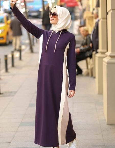 صورة عباية رياضية كاجوال مقفولة للمحجبات