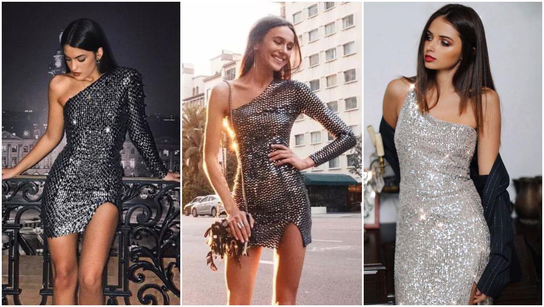 الفستان ذو الكتف الواحد موضة 2020