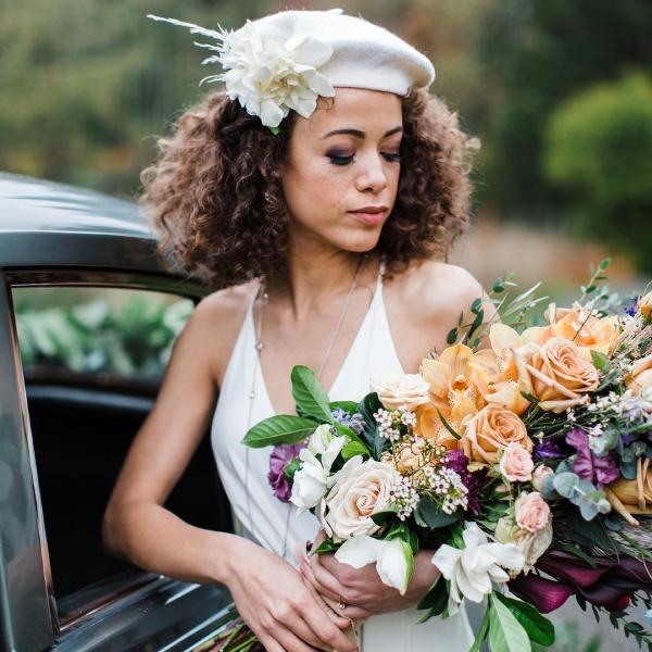 اختيار بوكيه العروس حسب القوام