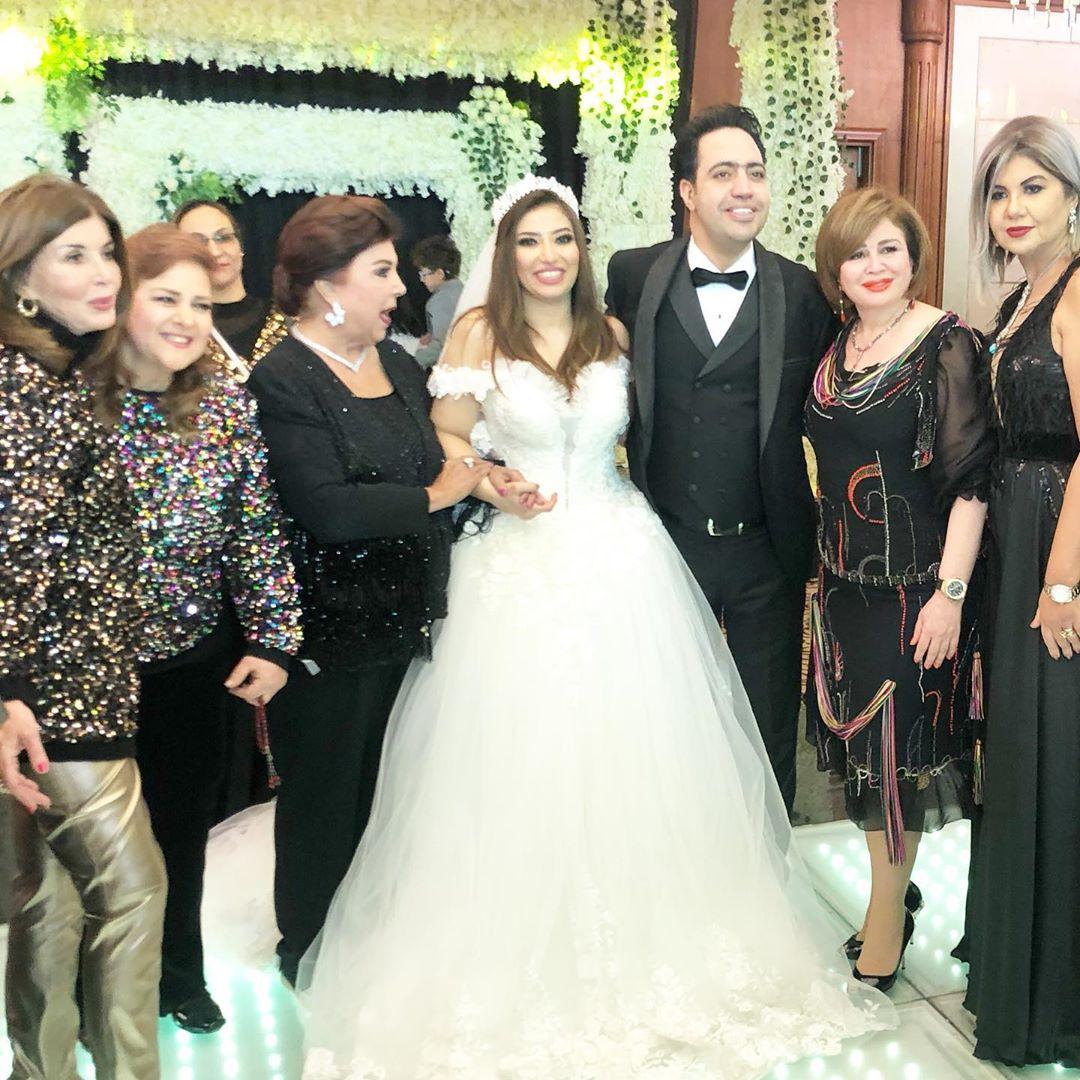 بالصور حفل زفاف النجمة غادة رجب والشاعر عبدالله حسن