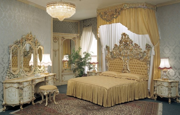 غرف نوم العروسين الكلاسيكية الجديدة