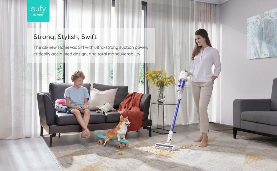 نظفي منزلك بسهولة مع إيوفي هوم فاك إس 11 جو ستيك فاكيوم