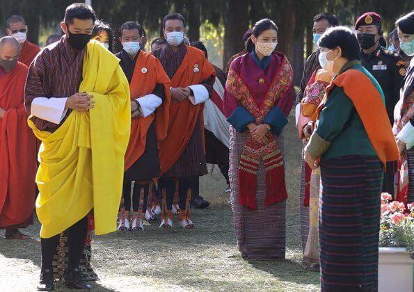 ملك وملكة بوتان يشاركان في مراسم احتفالية في بونخا