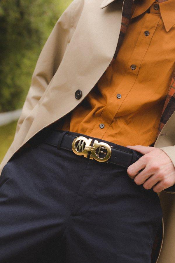 حزام Gancini المعدل حسب الطلب من Ferragamo