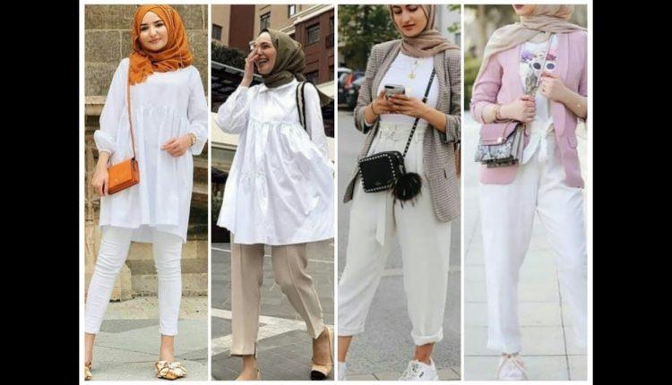 افكار لتنسيق اللون الابيض في الملابس