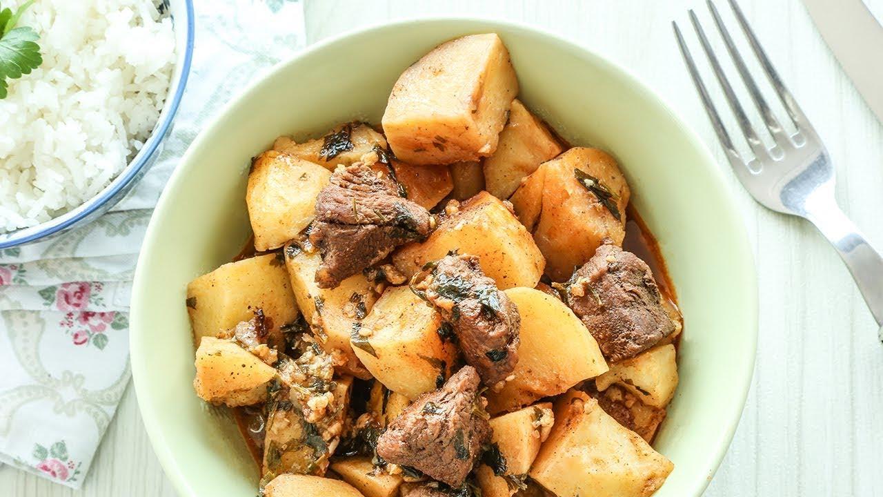 يخنة البطاطا بالثوم