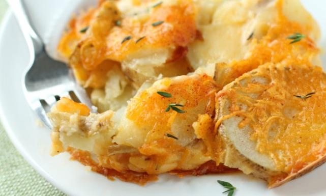 اسكالوب البطاطس بالجبن