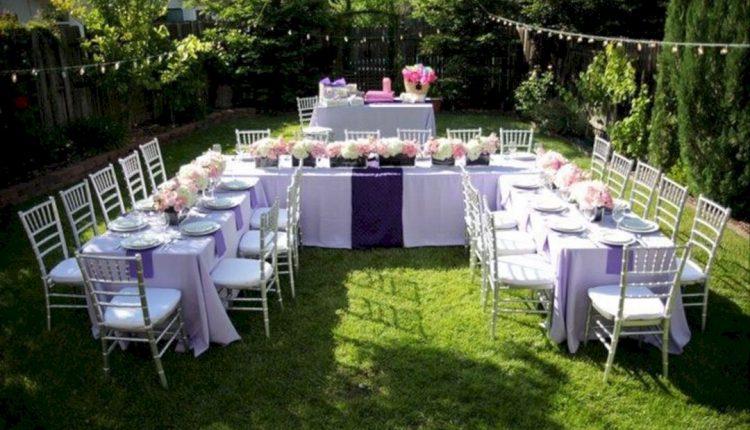 حفلة الزفاف في المنزل