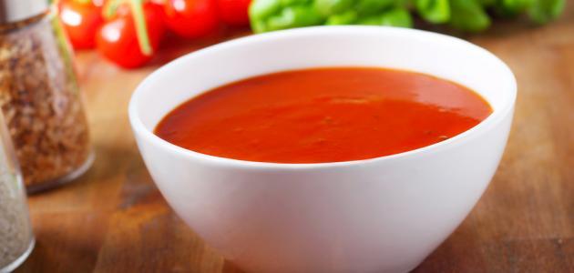 شوربة الطماطم بدون كريمة