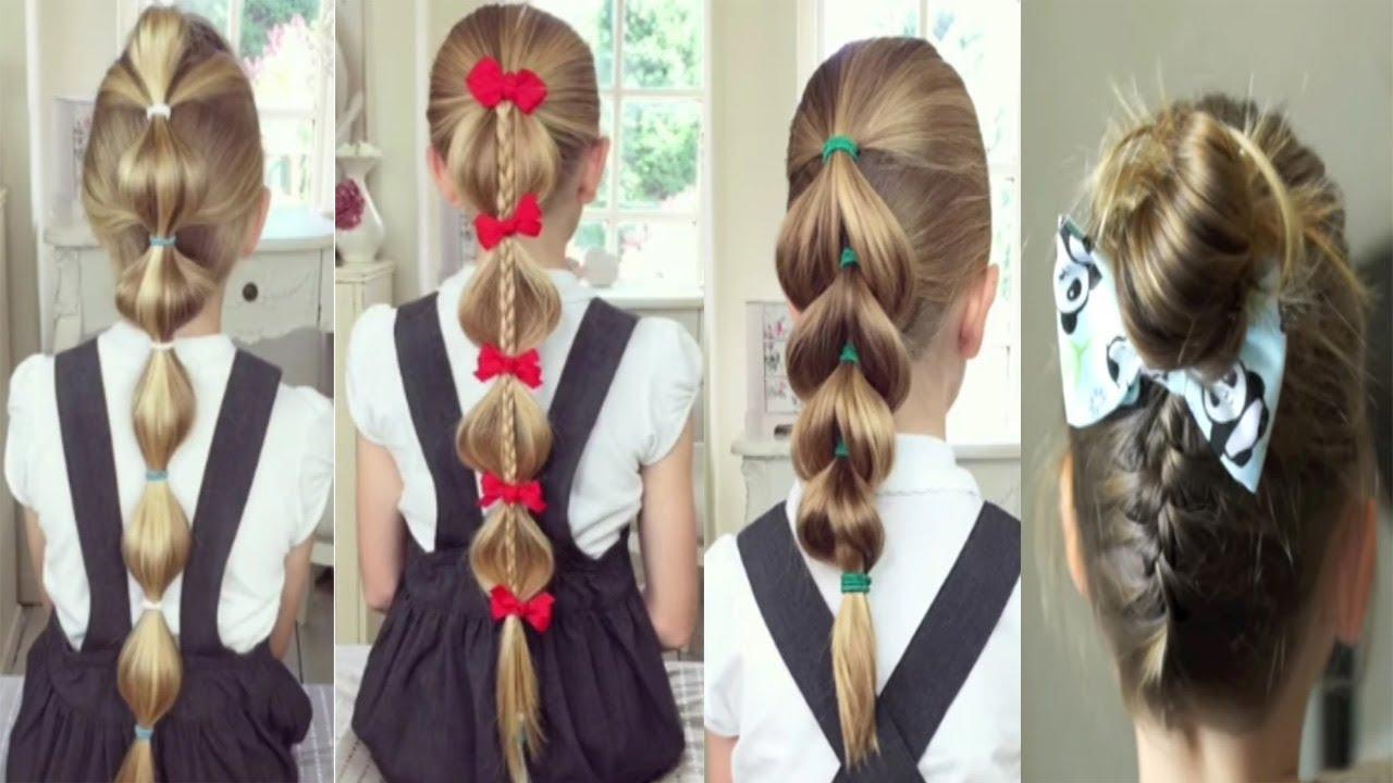 تسريحات شعر للمدارس للاطفال