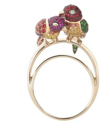 مجوهرات مرصعة بالياقوت الوردي